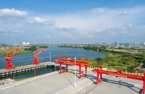 鹰潭首座现代化货运码头交工验收